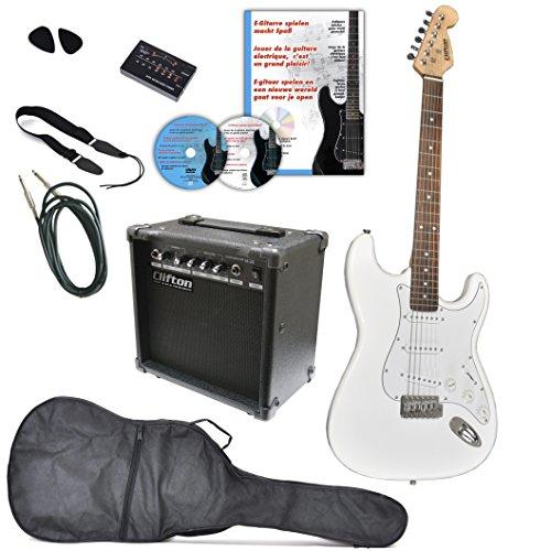 Clifton E Gitarren Set white mit...