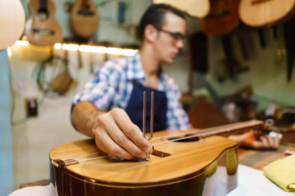 Gitarre Stimmgabel